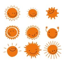 9款微笑太阳设计素材