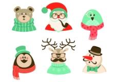 6款卡通圣诞角色素材