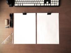PSD设计源文件画册纸张元素
