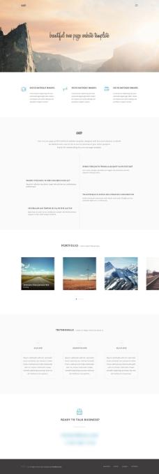国外风景网站PSD分层素材
