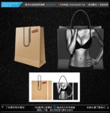 创意手提袋设计 含效果图平面图图片