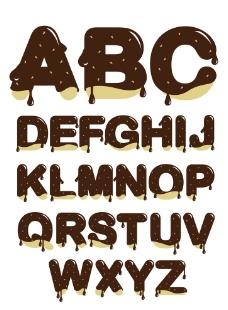 巧克力英文字母图片