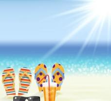 休闲度假沙滩插画图片