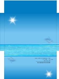 蓝天白云信封图片