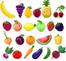 卡通 矢量水果蔬菜图图片
