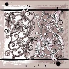 藤蔓型花纹素材