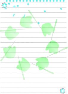 信纸样本  可爱图纸  清新背景