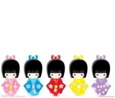 日本和服娃娃