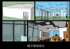电子设备办公室项目草图方案图片
