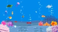 夏天海洋清爽大背景海报