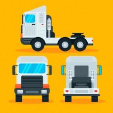 卡通交通工具汽车元素设计