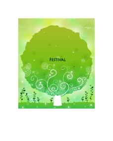 梦幻绿色大树底纹图片