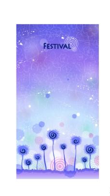 紫色梦幻花纹底图图片