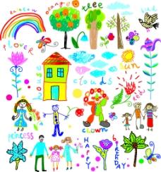 儿童可爱手绘画