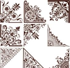 房地产 欧式 花纹 角花 边框图片