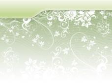 绿色淡雅花纹背景图片