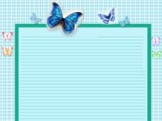 蝴蝶边框背景图片