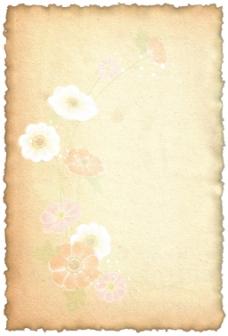 复古淡雅花卉背景图片