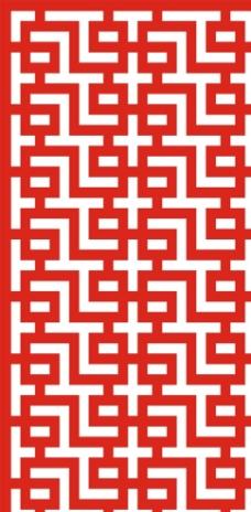 格子隔断镂空雕矢量图图片
