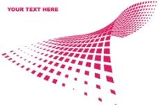 扭曲的网格现代科技画册图片