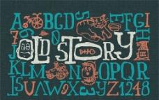 时尚英文 字母设计图片