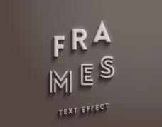 3D立体字效果图片