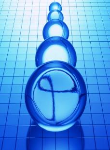 蓝色虚幻圆体背景图片