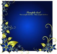 典雅金色花纹边框