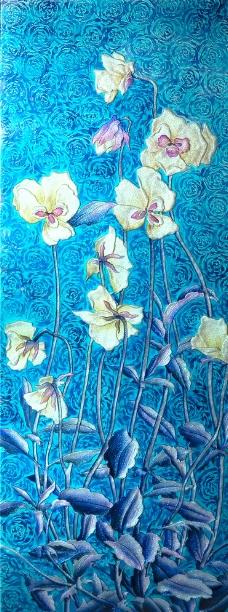 花卉花朵移门图片