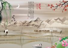 江南水乡背景墙图片