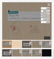 超炫网页界面课件PPT模板
