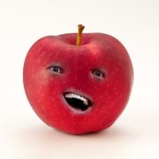 可爱嘲讽脸苹果