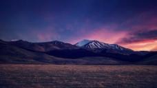 晚霞天空背景图片