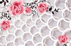 3D圆圈花朵(不分层)图片