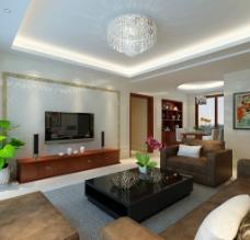现代风格客厅模型图片