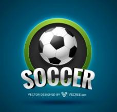 蓝色足球背景图片