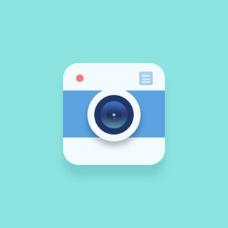 小清新扁平相机iconpsd下载