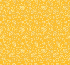 黄色碎花背景