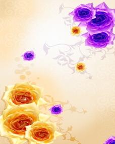 玻璃移门装饰图片玫瑰花花朵