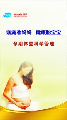 惠氏奶粉科学管理孕妇展板
