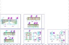 平面3层走廊筑图纸