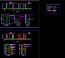 走廊立面建筑图纸