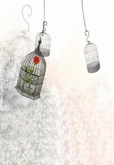 鸟笼卡通图片