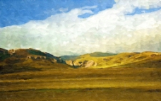 风景抽象画 装饰画 无框画图片