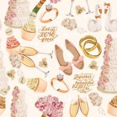 唯美时尚结婚用品背景