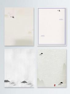 白色背景简约中国风新年海报背景