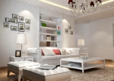 客厅 沙发 背景墙 欧式 简装图片