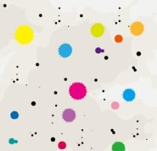 彩色墨迹背景图片