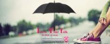 淘宝雨伞宣传促销海报PSD图片