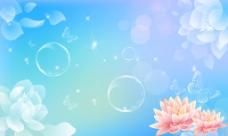 背景图 素材 psd源文件 花朵水滴